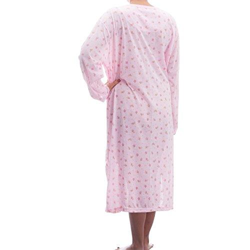 Lucky chemise de nuit à manches longues avec imprimé dans de grandes tailles 3XL homme Rose - Rose
