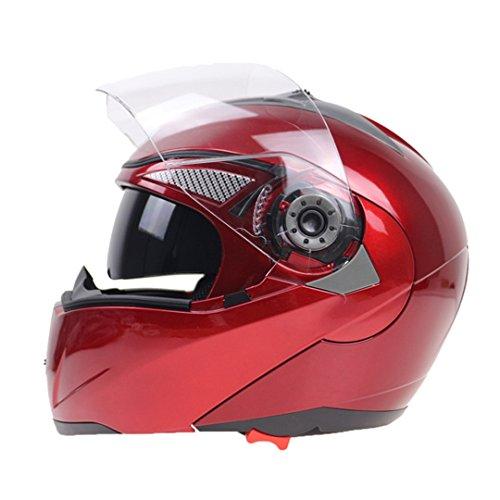 Harleeyr Professioneller Doppelter Glasmotorrad-Sturzhelm Drehen Oben Den Motorrad-Sturzhelm, der mit Innerer Schwarzer Sonnenbrille verfügbar ist Suzuki Red M