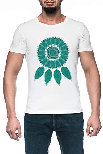 Atrapasueños Hombre Blanco Camiseta Manga Corta Men's White T-Shirt