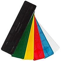 Cuñas de plástico Silisto anchas, 600 unidades, 100 x 24 mm, multicolor, 53524bs