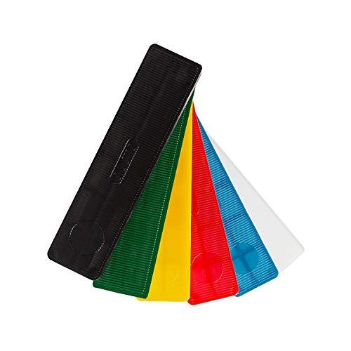 SILISTO Kunststoff Verglasungsklötze Set mehrfarbig 100 x 30 x 1-6 mm, 600 Stück