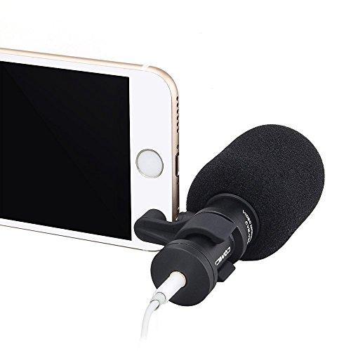 COMICA CVM-VS08 cardioide professionale a condensatore ad alta sensibilità Mini microfono da ripresa con Super Anti-Interferenza per IPHONE IOS e sistema Smartphone Smartphone (Wind Muff incluso)