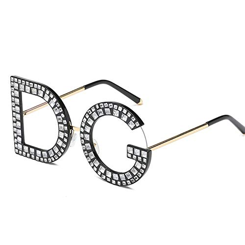 TOOMD Vintage Sunglasses Unisex Personality New Letter Sunglasses DG  Diamond Sunglasses UV400 Prescription Glasses Suitable Driving f20e9d2fc922