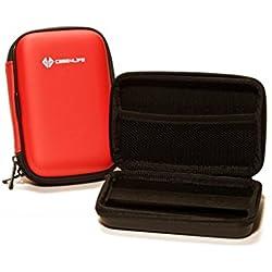 """Case4Life Rouge 2,5"""" rigide housse Étui disque dur externe pour Maxtor STSHX-M101TCBM, Maxtor STSHX-M201TCBM - Garantie à vie"""