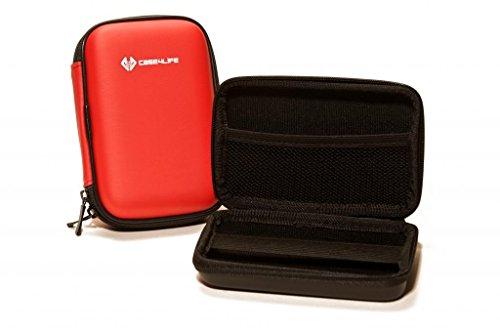 "Case4Life Rouge 2,5"" rigide housse Étui disque dur externe pour Toshiba STOR.E Canvio Basics / Steel / Partner / ALU / 500Go / 1To / 1.5To / 2To - garantie à vie"