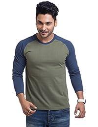 Cult Fiction Comfort Fit Olive Color Round Neck Cotton T-shirt For Men