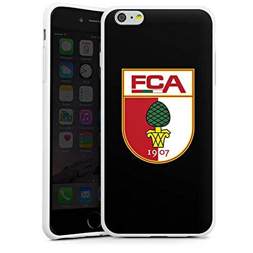 Apple iPhone 7 Plus Hülle Case Handyhülle FC Augsburg Fanartikel Fußball Silikon Case weiß