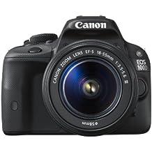 "Canon EOS 100D - Cámara réflex digital de 18 MP (pantalla táctil LCD de 3"", vídeo Full HD, sensor CMOS) negro - kit con objetivo EF-S 18 - 55 mm f/3.5 - 5.6 III"