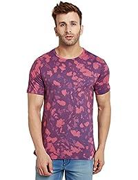 LE BOURGEOIS Men's Blow Tie Dye Print T-Shirt