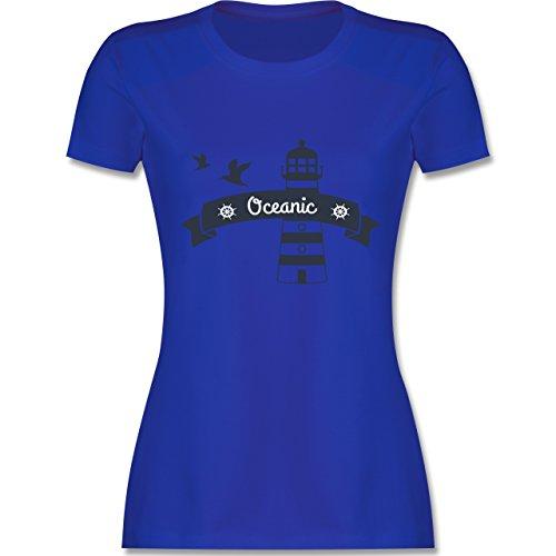 Schiffe - Oceanic Segeln Leuchtturm - tailliertes Premium T-Shirt mit Rundhalsausschnitt für Damen Royalblau