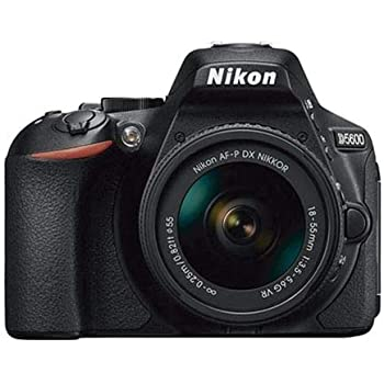 Nikon D5600 - Cámara réflex de 24 MP (DX, CMOS, Visor óptico, Montura Tipo F, SnapBridge, D-Movie y Vídeo Time-Lapse) - Kit con Objetivo AF-P VR ...
