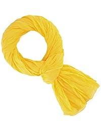 Chèche coton jaune bouton d'or uni