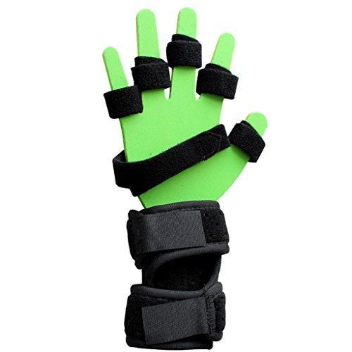 Fingerboard Formation Point Doigt Plaque Fixe Doigt Orthèse Déformation Boucle En Plastique Plaque D'aluminium Pour Hémiplégie,Lefthand,M