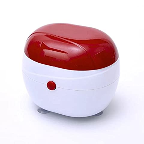 Anhery Ultrasonic Cleaner Jewelry Cleaners Machine Mini Electric Personal Care Cleaning for Denture Watch Glass Lens Silver