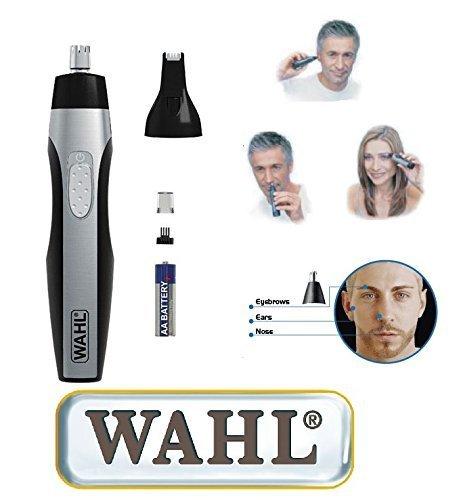 WAHL Nasenhaarschneider incl. Leuchte und zwei Schneidsätzen. Nasenhaarschneider / Ohrhaarentferner. 41876