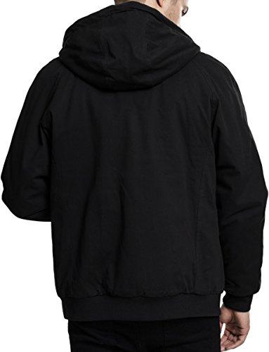 Urban Classics Herren Jacke Hooded Cotton Zip Jacket Schwarz (Black 7)