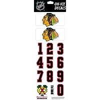 Helmsticker Set NHL Sportstar Team Chicago Blackhawks