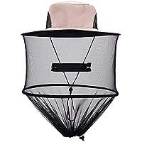 Lovelysunshiny Mosquito Cap Midge Fly Bug Insecto Sombrero de Abeja con Malla de Malla Cara Cara Proteger Sombrero