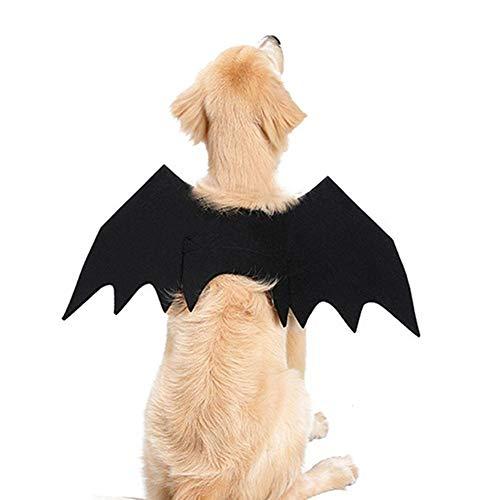 Arvin87Lyly Halloween Haustier Fledermaus Flügel Klein Groß Hund Katze Fledermaus Kostüm Kleidung, Cosplay Party Haustier ()
