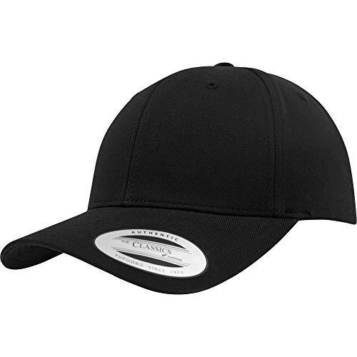 Yupoong Flexfit Curvo Visiera Classico Cappellino Cappello - 6 Colori -  Nero 252fed29e507