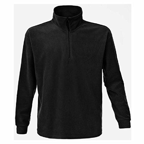 JAMES & NICHOLSON Jacke oder Sweatshirt in schwerer Fleece-Qualität Black