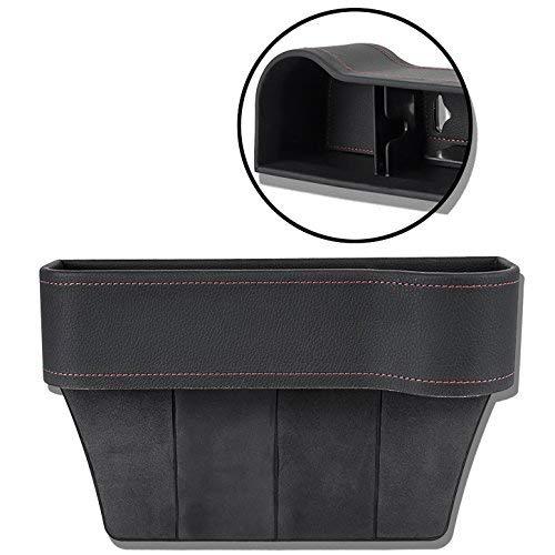 Autositz Seiten Schlitz Taschen Auto-Sitzablagefach Organizer für Auto füllt Lücken Zwischen den Sitzen, schwarz