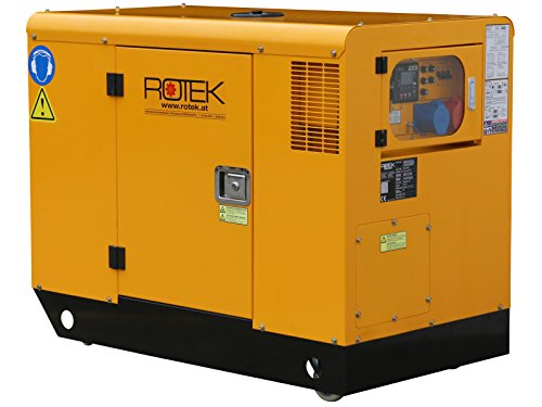 Rotek Schallgedämmter Diesel Stromerzeuger GD4SS-3-13000-ES (13,7 kVA / 11kW 400V 50Hz 3-phasig)