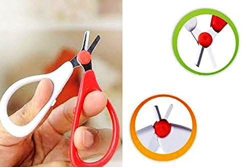 Baby Safety Scissors - Specially Designed Scissors for Clipping Your Baby's Nails - Circular Cutter Head for Baby's Safety