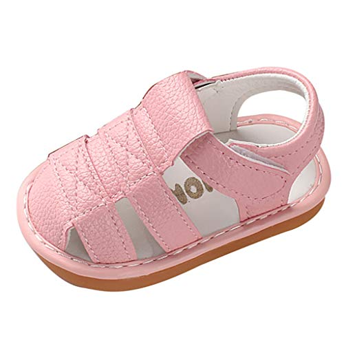 AIni Baby Schuhe 2019 Neuer Beiläufiges Mode Neugeborenes Baby Mädchen Jungen Römische Schuhe Sandalen Erste Wanderer Weiche Sohle Schuhe Lauflernschuhe Krabbelschuhe Kleinkinder Schuhe (17,Rosa)