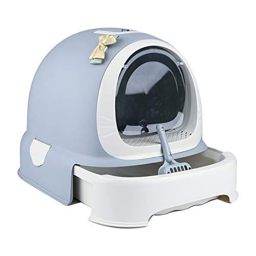 *Zhanghaidong Katze Wurf Fach Kätzchen WC Filter Carry Griff Tray WC Box Ultra Selbstreinigende Wurf Box Dome Outdoor Wasserdichte Kapuze Katze Katzenklo*