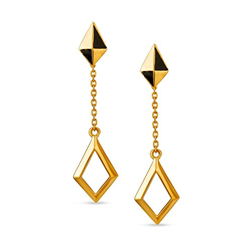 Mia by Tanishq 14KT Yellow Gold Drop Earrings for Women
