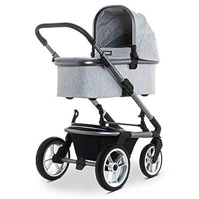 SOLITAIRE Premium Kombi-Kinderwagen mit Sportwagenaufsatz & Babywanne Light Grey | 63770200-886 + 63770201-886