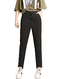 Eleganti Donna Pantaloni Taglie Comode Matita Con Elastico In Vita 93493e513f4