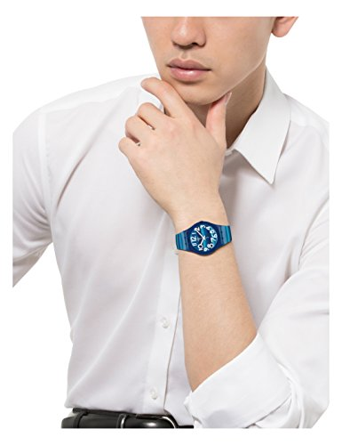 Swatch Unisex-Uhr Analog Quarz mit Plastikarmband – GN237 - 2
