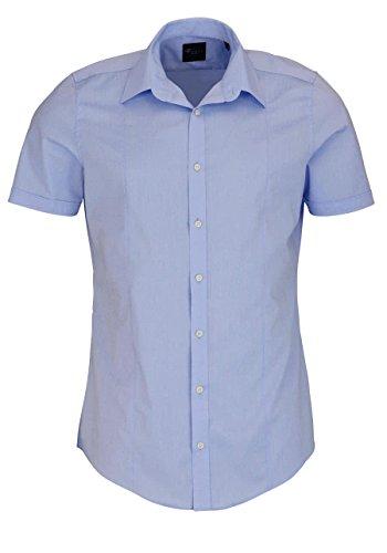 Venti Herren Businesshemd Hemd Body Fit, Blau (Hellblau 100), 40