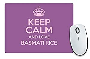 Viola Keep Calm And Love Basmati Riso Tappetino per Mouse: 2158