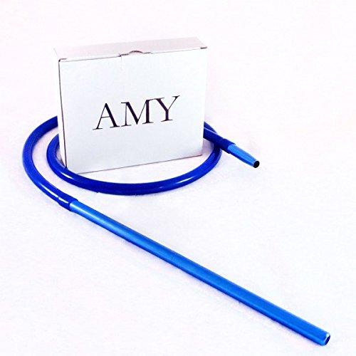 Schlauchset AMY Alu Mundstück 40cm Shisha Silikonschlauch Set (Blau)