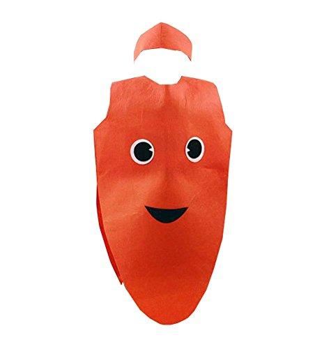 Die Kostüm-Kleidungs-Modeschau der netten Frucht-Kleidungs-Kinder, Karotte