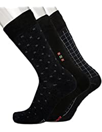 Blacksmith 100% COTTON FORMAL SOCKS FOR MEN IN ASSORTED COLORS (PACK OF 3) 4A