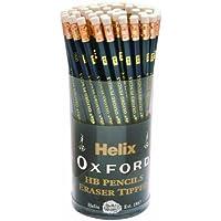 Helix Oxford Executive P60272 - Matite HB con gommino, 72 (Eraser Di Matita)