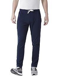 Club York Men Blue Cotton Blended Track Pant
