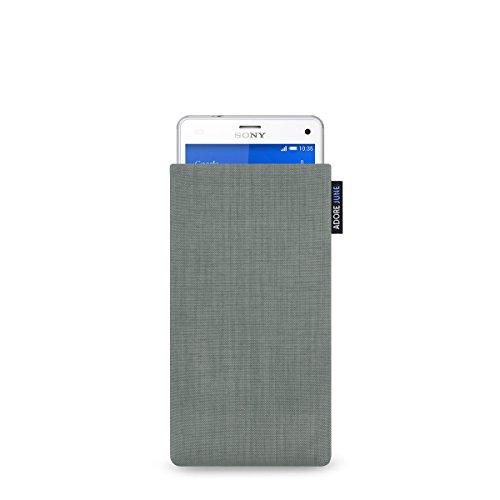 Adore June Classic Hülle für Sony Xperia Z1 Compact und Xperia Z3 Compact aus original Cordura - Silber