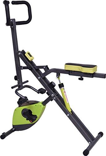 X-Rider - Appareil de fitness 2 en 1 vélo appartement et rameur rider pliable pour abdos, bras, cuisses, fesses.