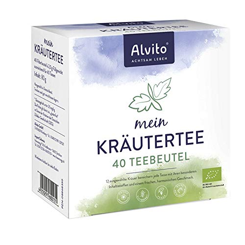 Alvito Basischer Kräutertee Beutel 40St.