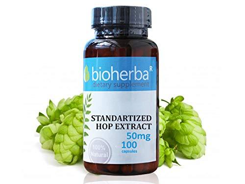 Standardisierter Hopfenextrakt, Bioherba, 100 Kapseln, 50 mg -