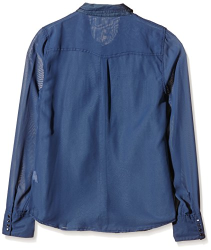 DDP F4WISG02 - Chemisier - Taille Normale - Manches Longues - Femme Bleu (Dark Blue)