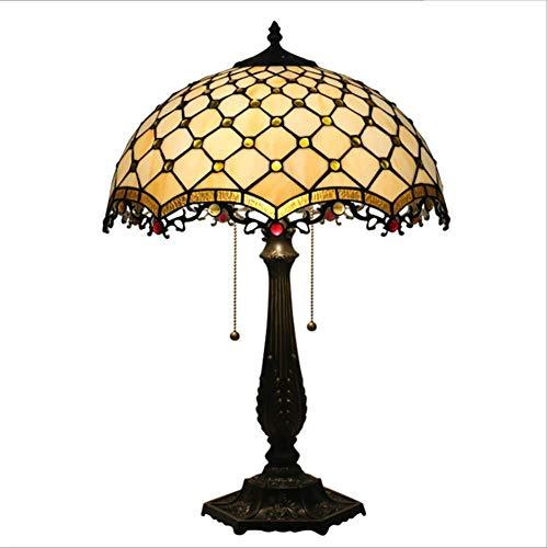 Litaotao Tiffany Stil Tischlampen Glasmalerei Antike Messinglampe Moderne Einfache Luxus Schöne Ideal Für Zuhause Nachttisch Konsole Und Lounge (Glasmalerei Antike)