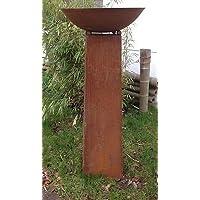 Garteninspiration Feuerschale 50cm Durchmesser mit Konus 100cm hoch