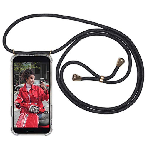 Expatrié Handykette kompatibel mit iPhone XS Max Schwarz Damen Lola Smartphone Necklace Hülle mit Band - Transparente Handyhülle mit Kordel zum Umhängen - Hochwertige Crossbody Handy Kette