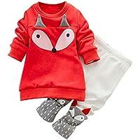 Ropa Bebé, Amlaiworld Bebé Chica Fox Manga Larga Sudadera Superior + Pantalones Ropa de Conjunto 0-3Años